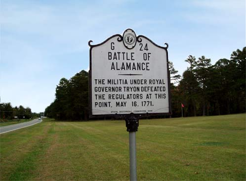Battle of Alamance Historical Marker